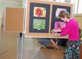 Příprava fotografické výstavy Kouzlo okamžiku | Obchodní akademie Vinohradská, Praha 2